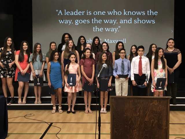OLR Parish School 2018 National Junior Honor Society